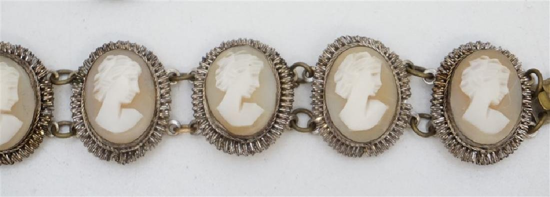 ANTIQUE CAMEO BRACELET & BROOCH - 2