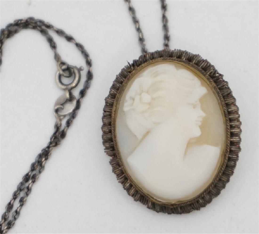 ANTIQUE CAMEO BRACELET & BROOCH - 3