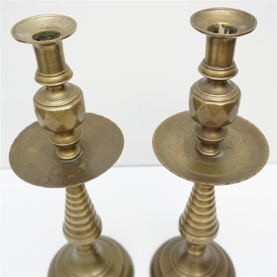 TALL BRASS CANDLESTICKS - 5