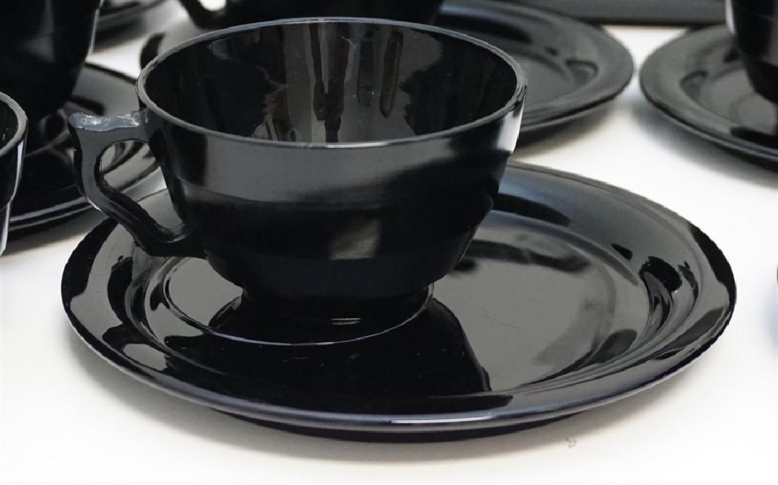 LARGE LOT BLACK AMETHYST GLASS - 4