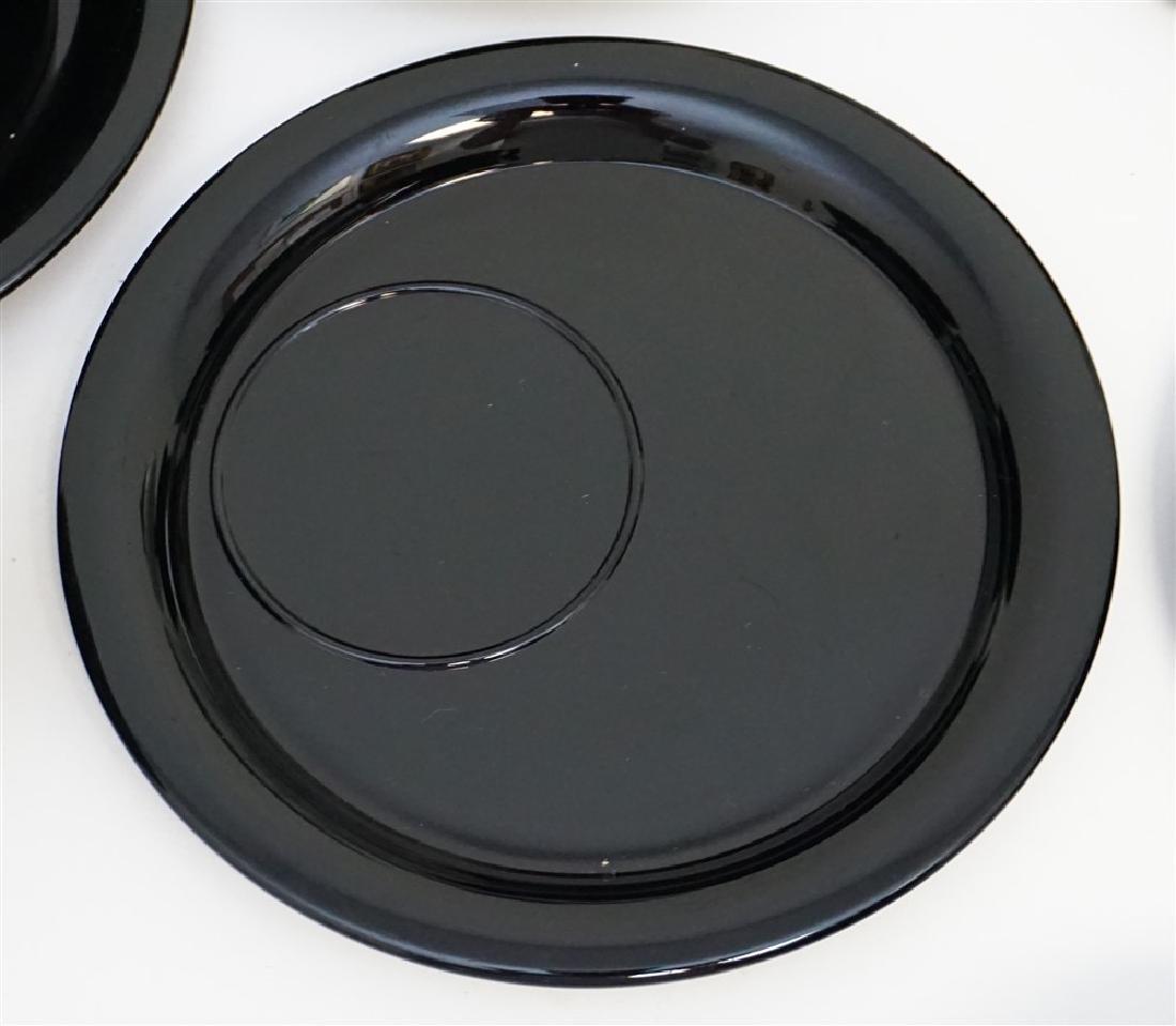 LARGE LOT BLACK AMETHYST GLASS - 6