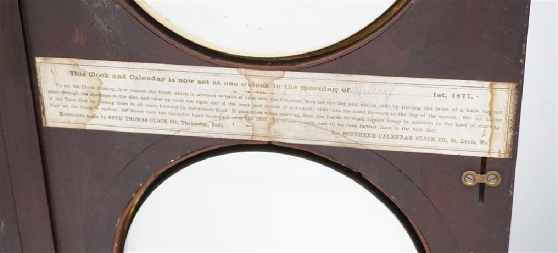 1895 FASHION MODEL 2 SOUTHERN CALENDER CLOCK - 7