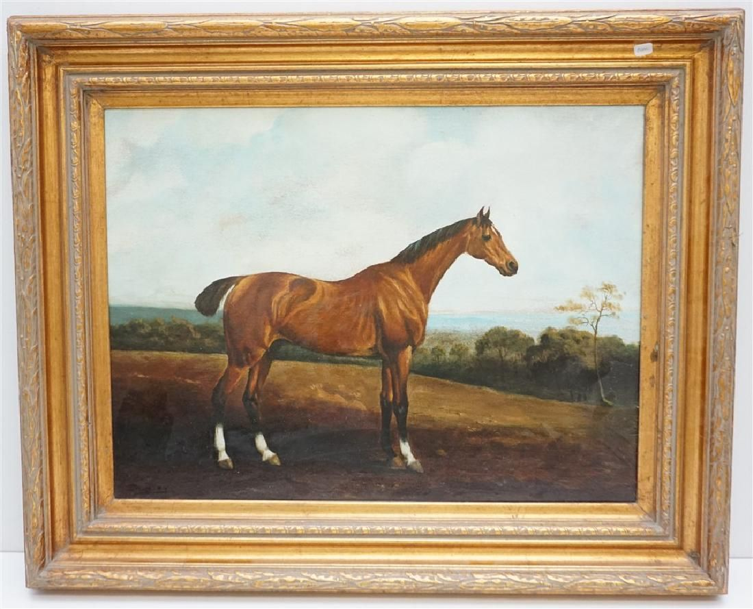 """20TH CENTURY """"SHIPLEY"""" EQUESTRIAN OIL PAINTING"""