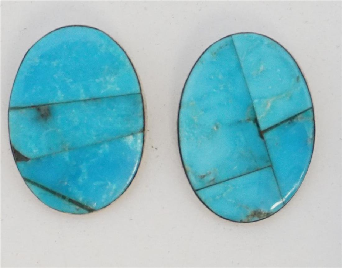 3PC TURQUOISE HOWLITE STERLING JEWELRY - 3