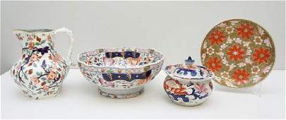 4 pc 19TH C ENGLISH IMARI BOWL  JUG