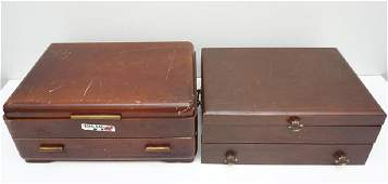 2 VINTAGE SILVER CHESTS