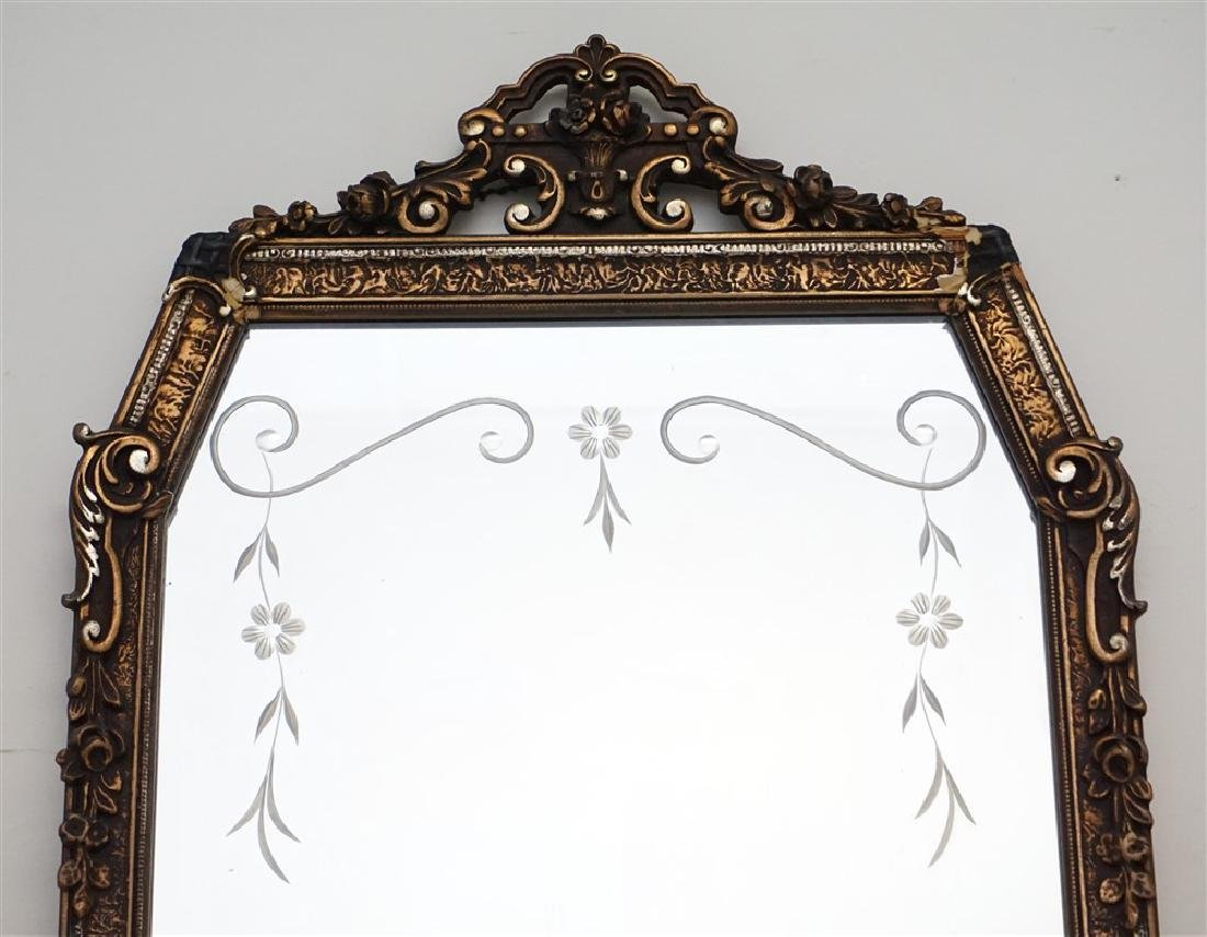 ETCHED GLASS & GESSO MIRROR - 2