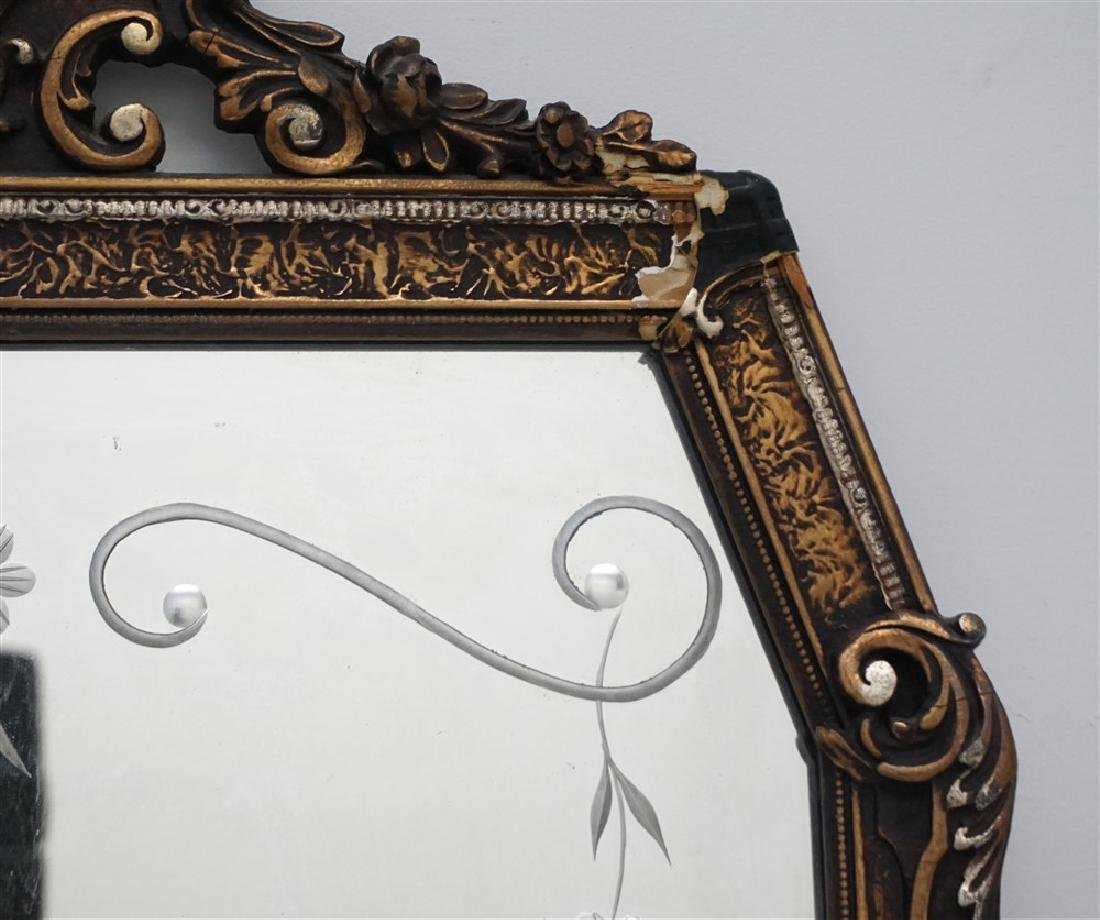 ETCHED GLASS & GESSO MIRROR - 4