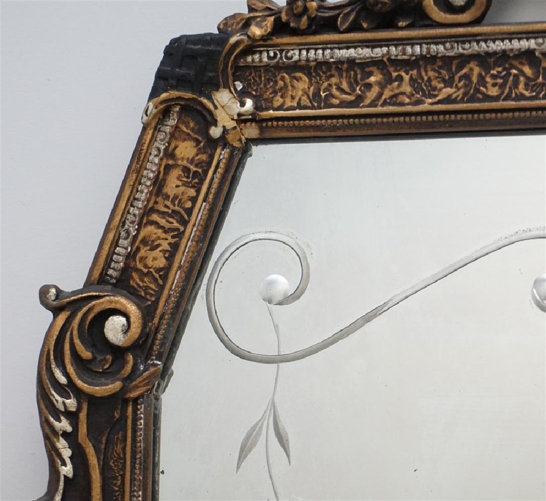 ETCHED GLASS & GESSO MIRROR - 5
