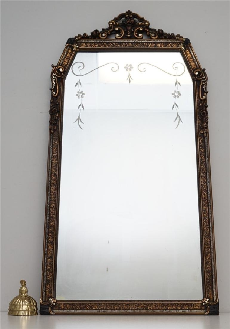 ETCHED GLASS & GESSO MIRROR - 6