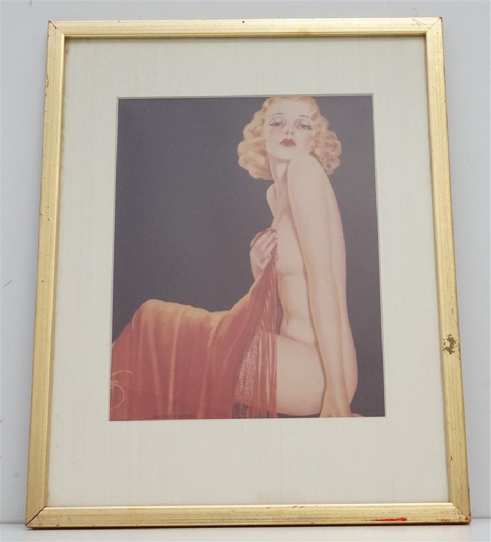 ART DECO ARTISTS MODEL PRINT