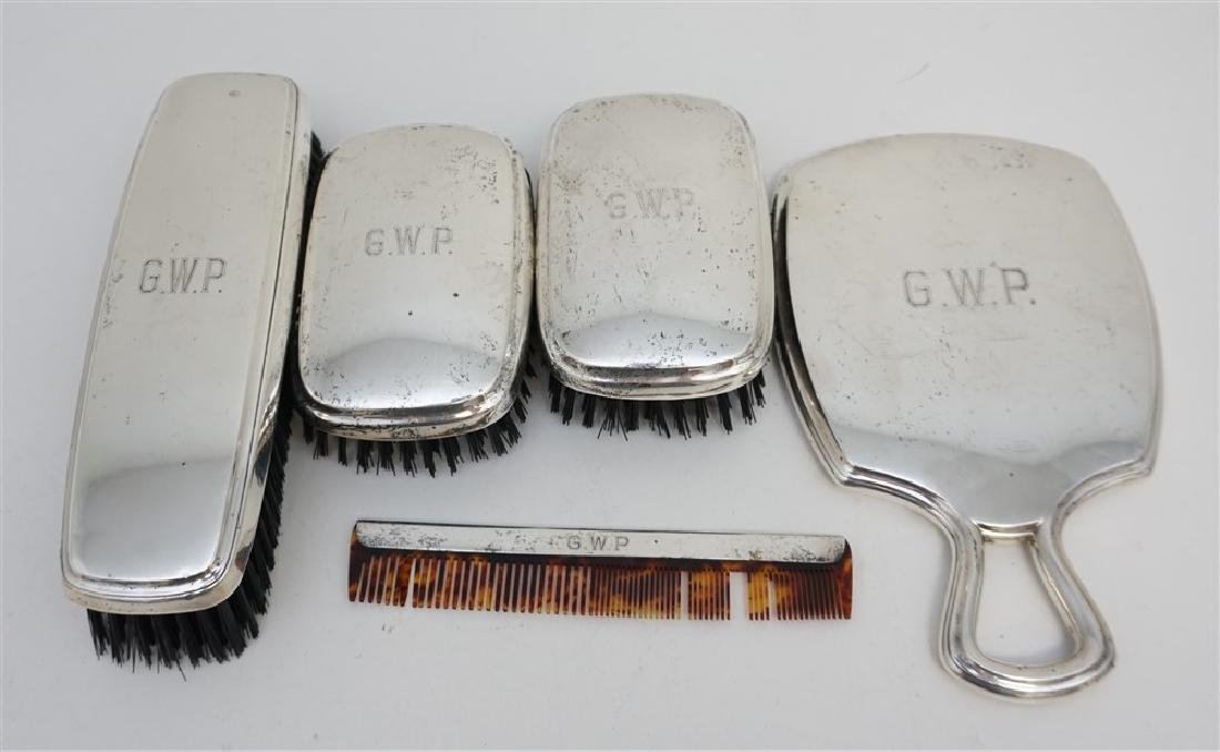 5 PC R. BLACKINTON STERLING DRESSER SET