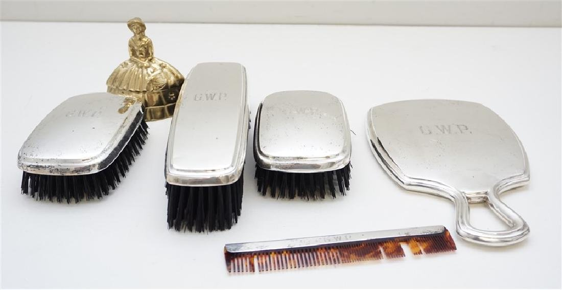 5 PC R. BLACKINTON STERLING DRESSER SET - 9