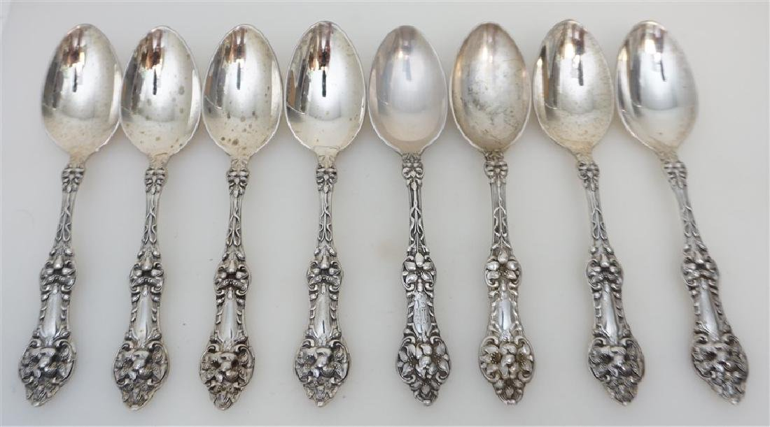 8 STERLING ORANGE BLOSSOM TEASPOONS