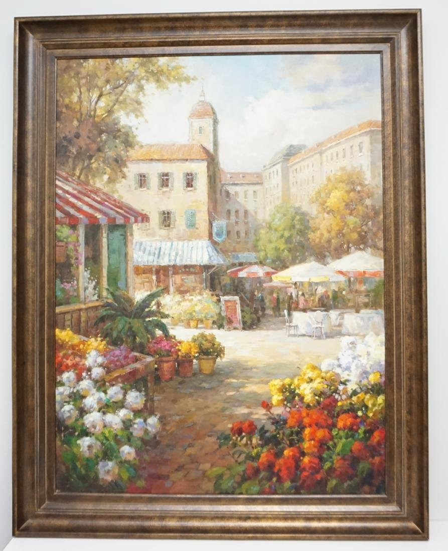 LARGE MEDITERRANEAN FLOWER MARKET CAFE