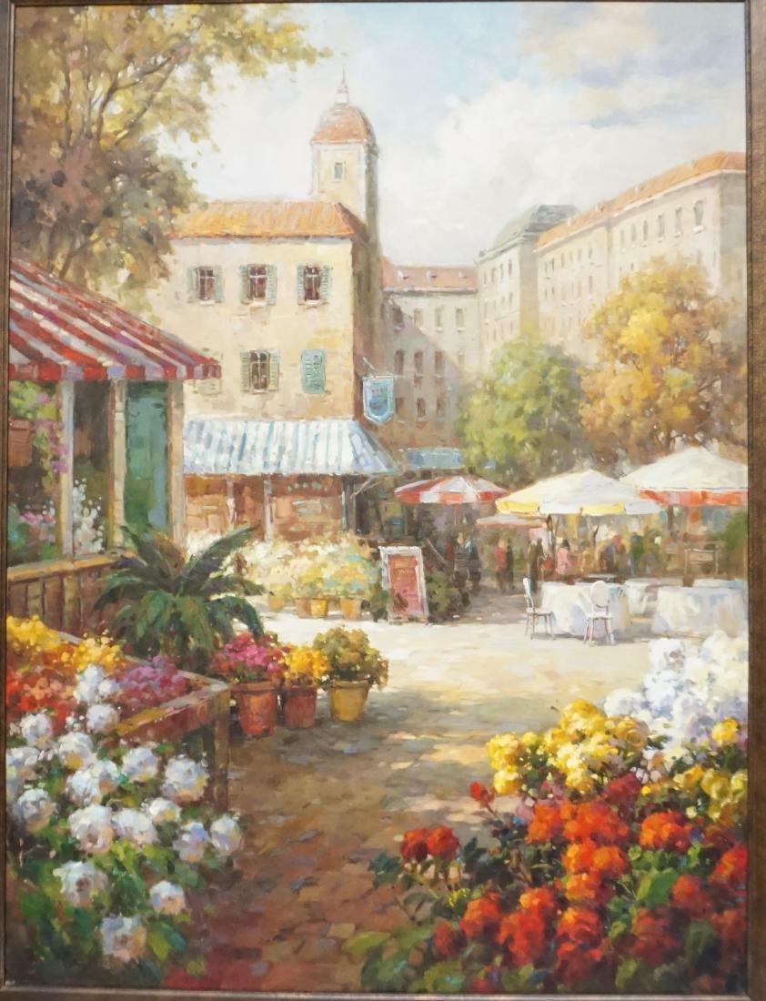LARGE MEDITERRANEAN FLOWER MARKET CAFE - 2