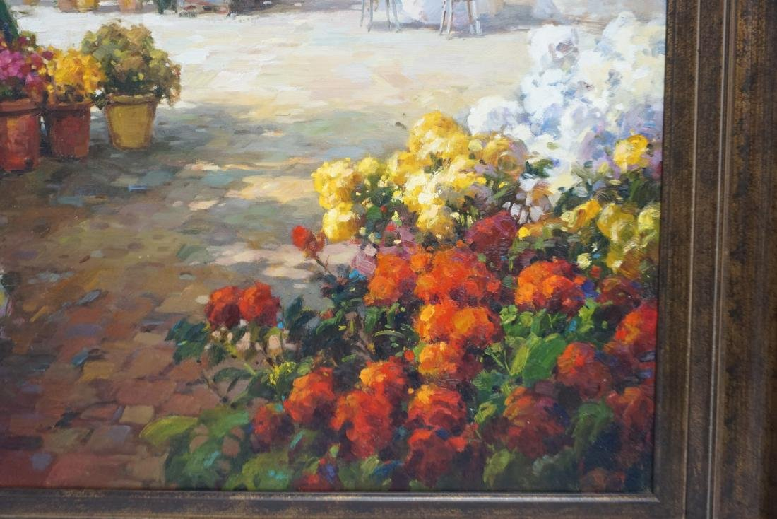 LARGE MEDITERRANEAN FLOWER MARKET CAFE - 5