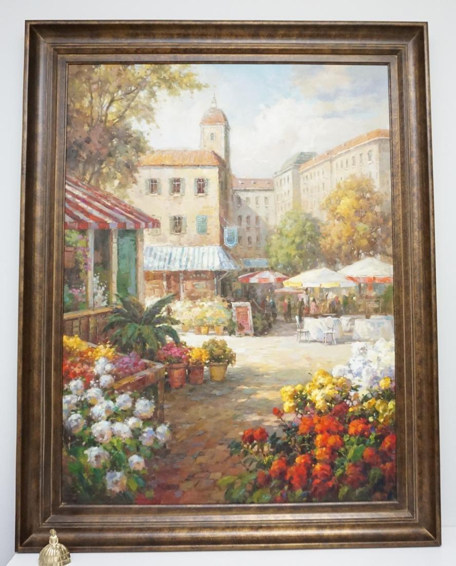 LARGE MEDITERRANEAN FLOWER MARKET CAFE - 8