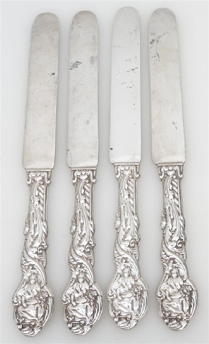 4 GORHAM STERLING VERSAILLES 1888 KNIVES
