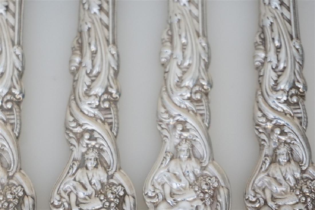 4 GORHAM STERLING VERSAILLES 1888 KNIVES - 3