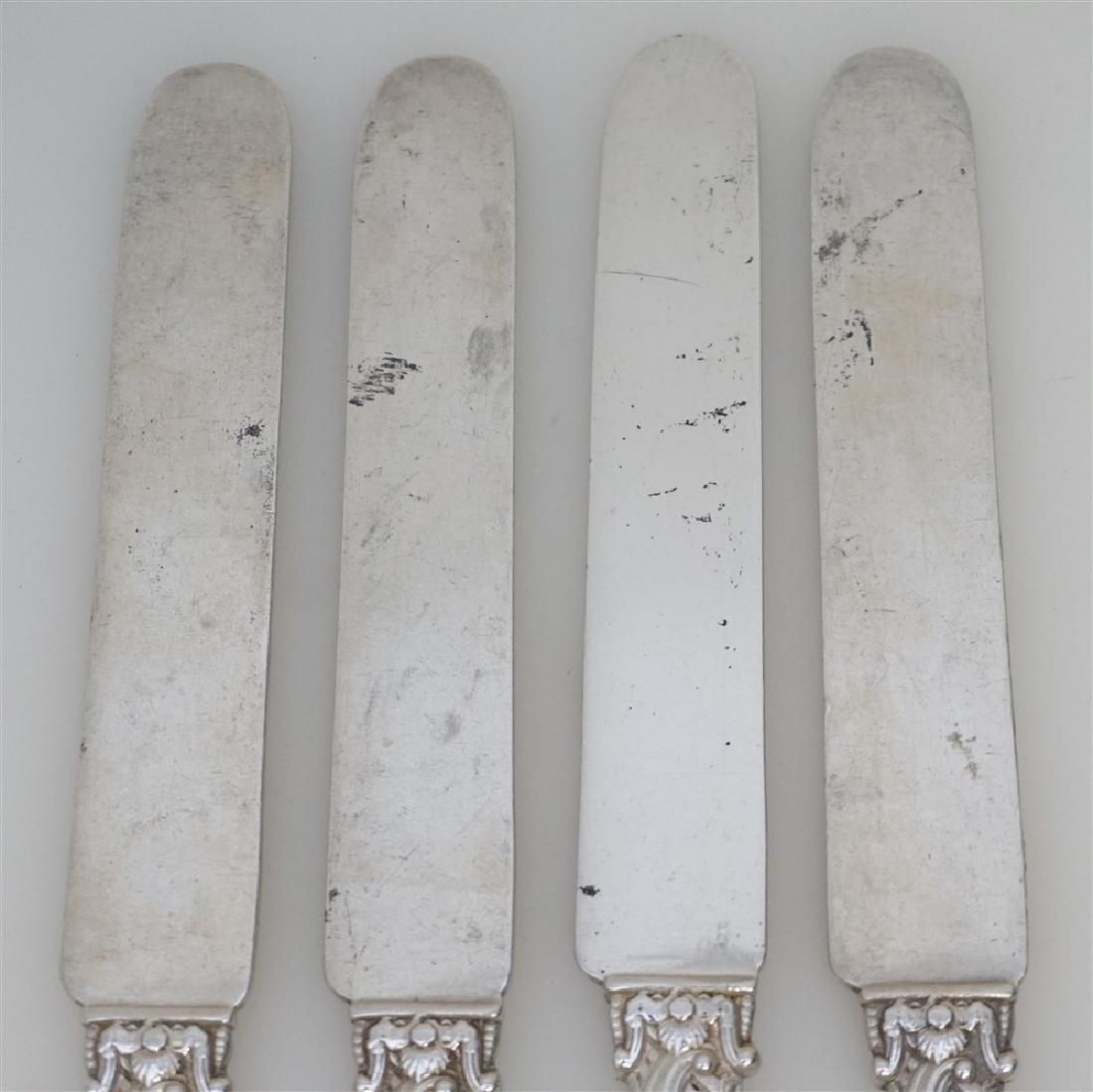 4 GORHAM STERLING VERSAILLES 1888 KNIVES - 5