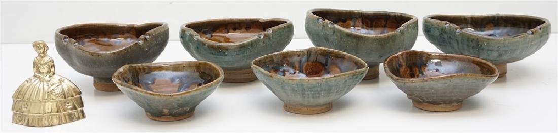 7 pc EB STUDIO ART POTTERY BOWLS - 9
