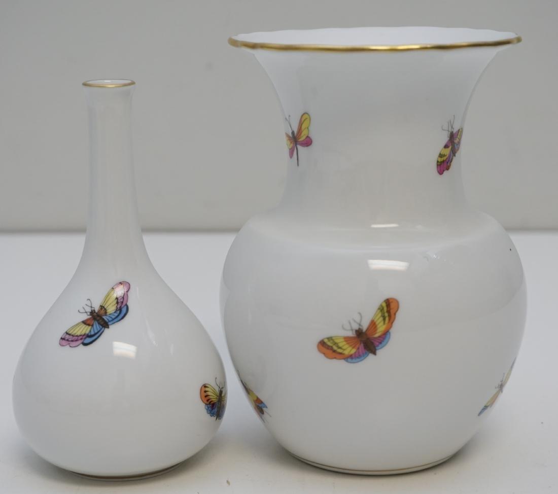2 HEREND ROTHSCHILD BIRD VASES - 4