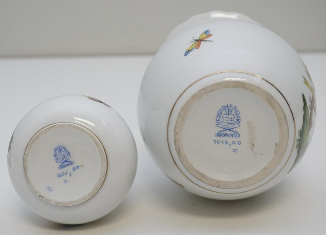 2 HEREND ROTHSCHILD BIRD VASES - 6
