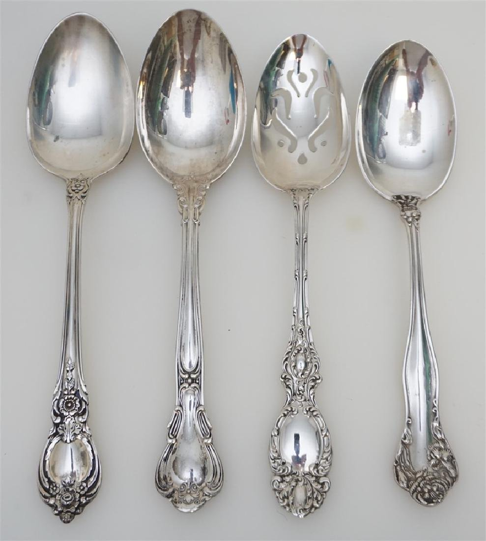 4 STERLING SILVER SERVING SPOONS