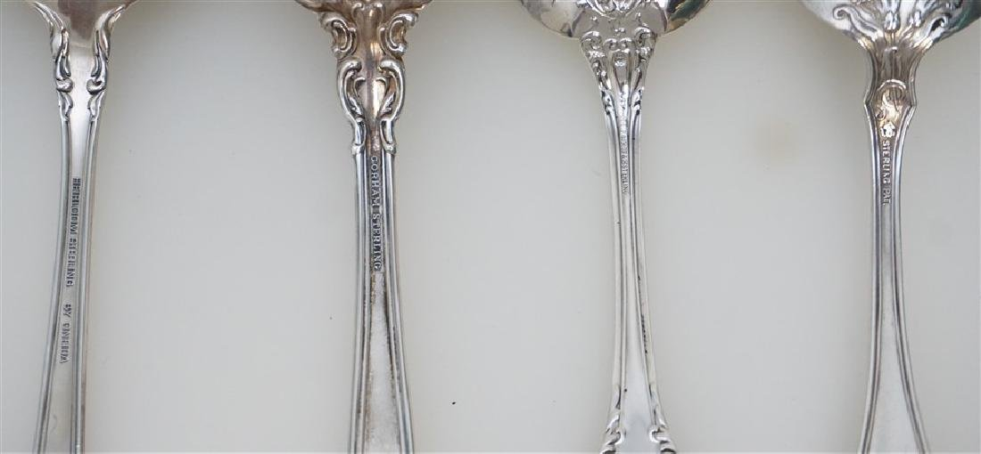 4 STERLING SILVER SERVING SPOONS - 5