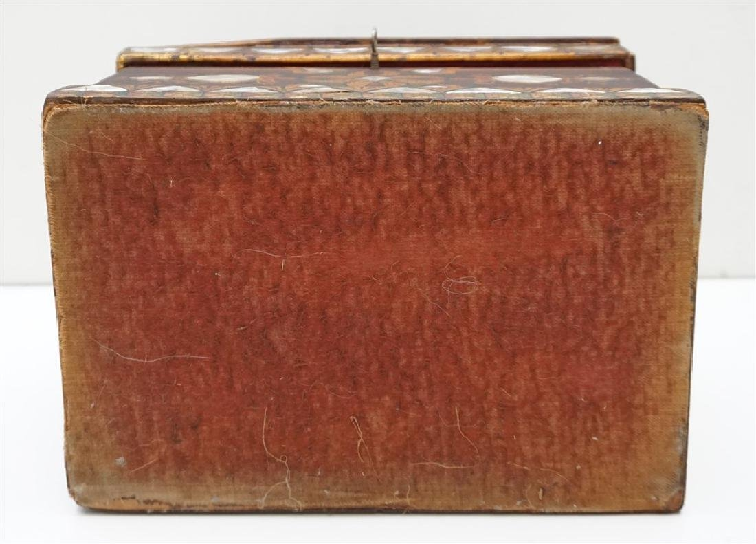 19th c INLAID MOP PAINTED JEWELRY BOX - 10