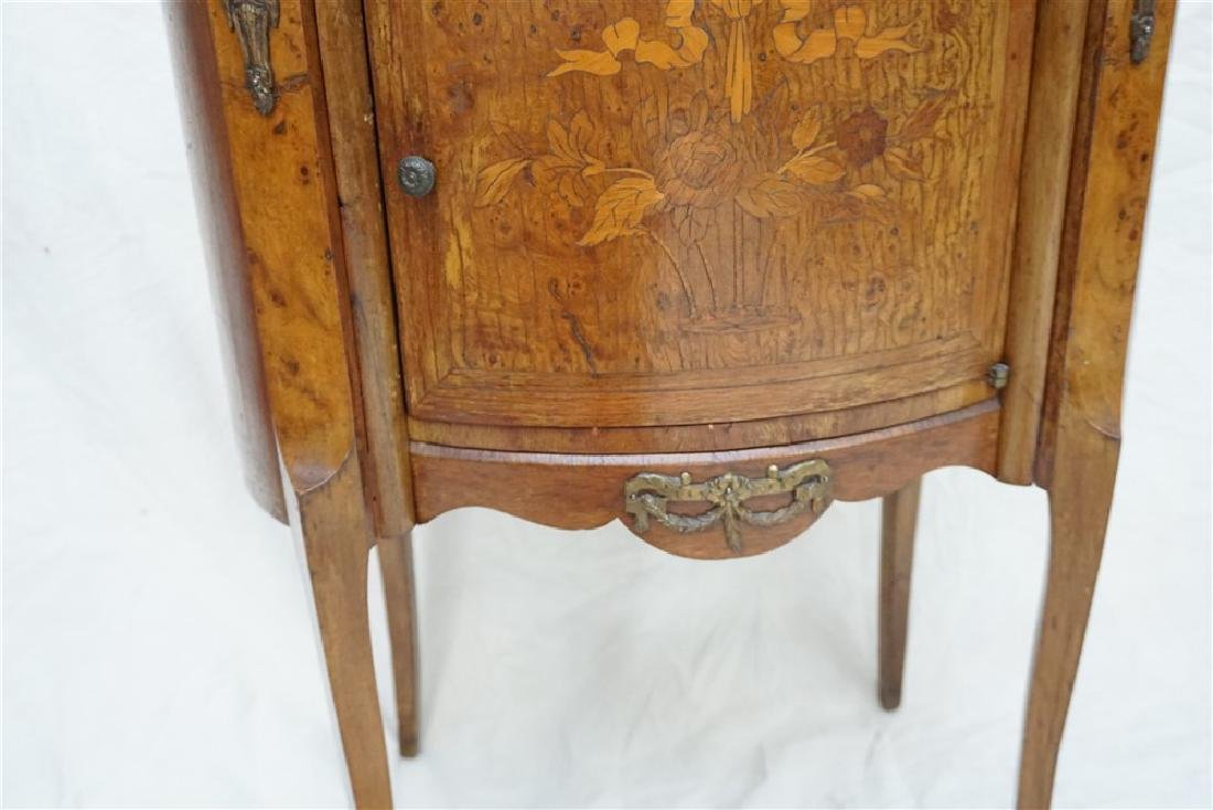 FRENCH INLAID MARBLE TOP SIDE TABLE - 5