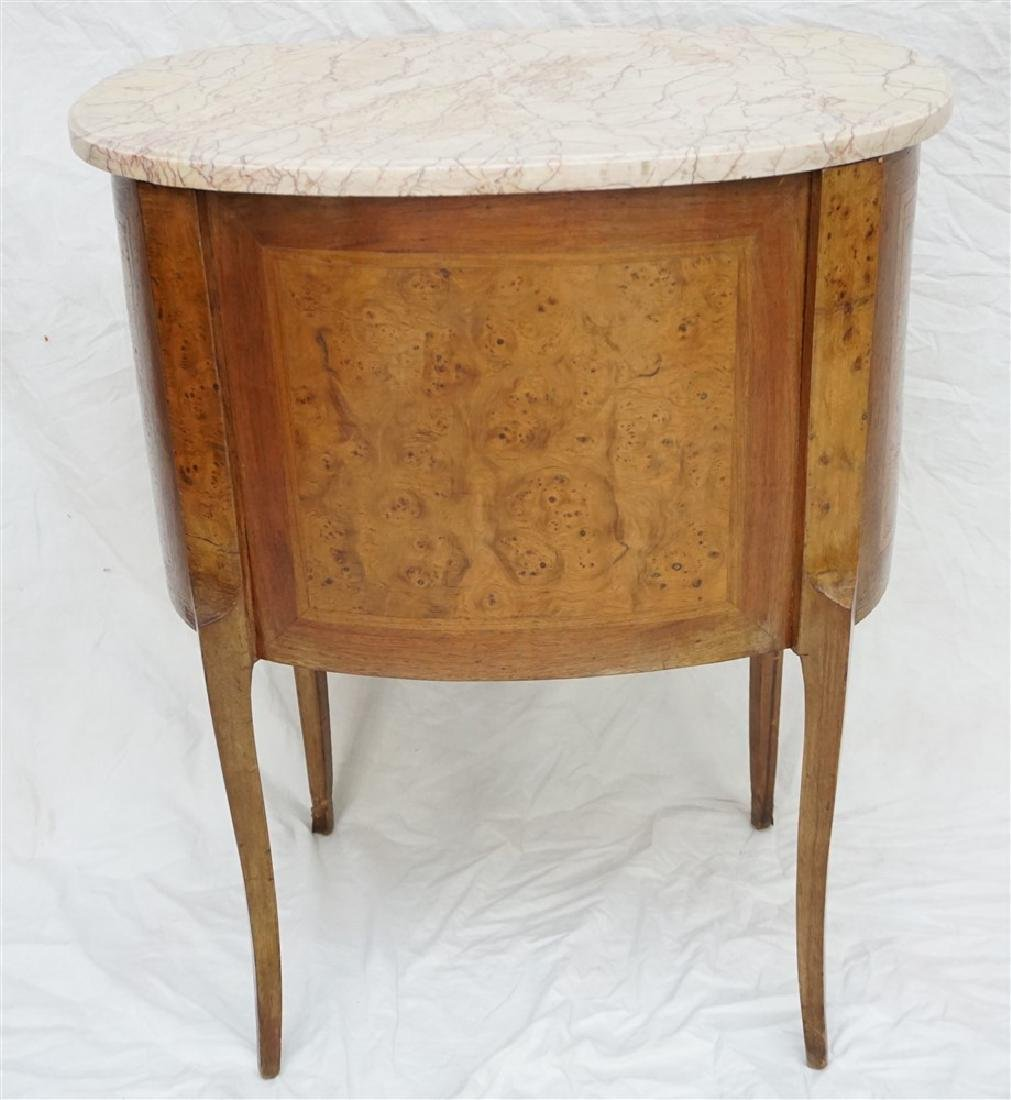 FRENCH INLAID MARBLE TOP SIDE TABLE - 7