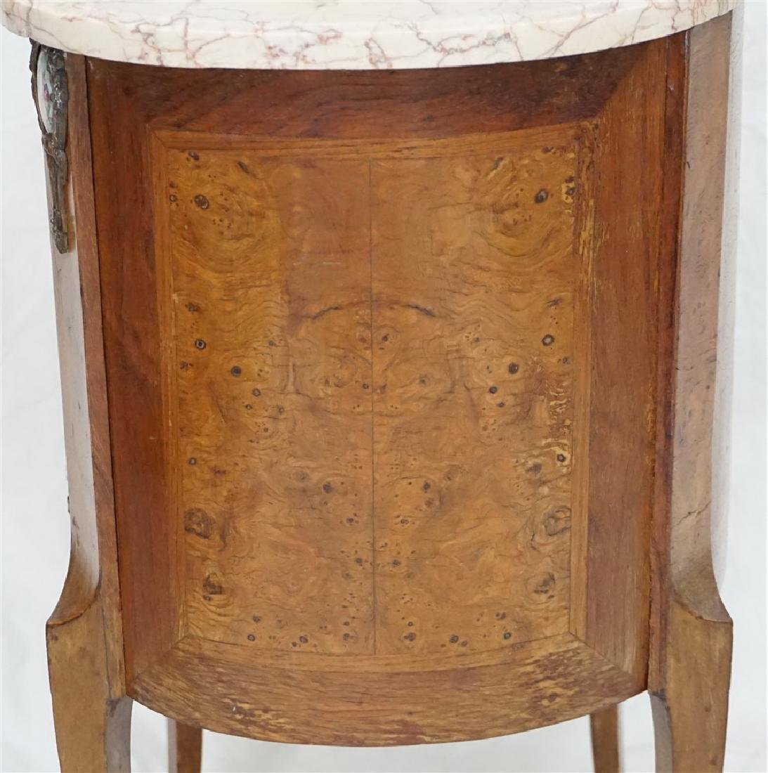 FRENCH INLAID MARBLE TOP SIDE TABLE - 8