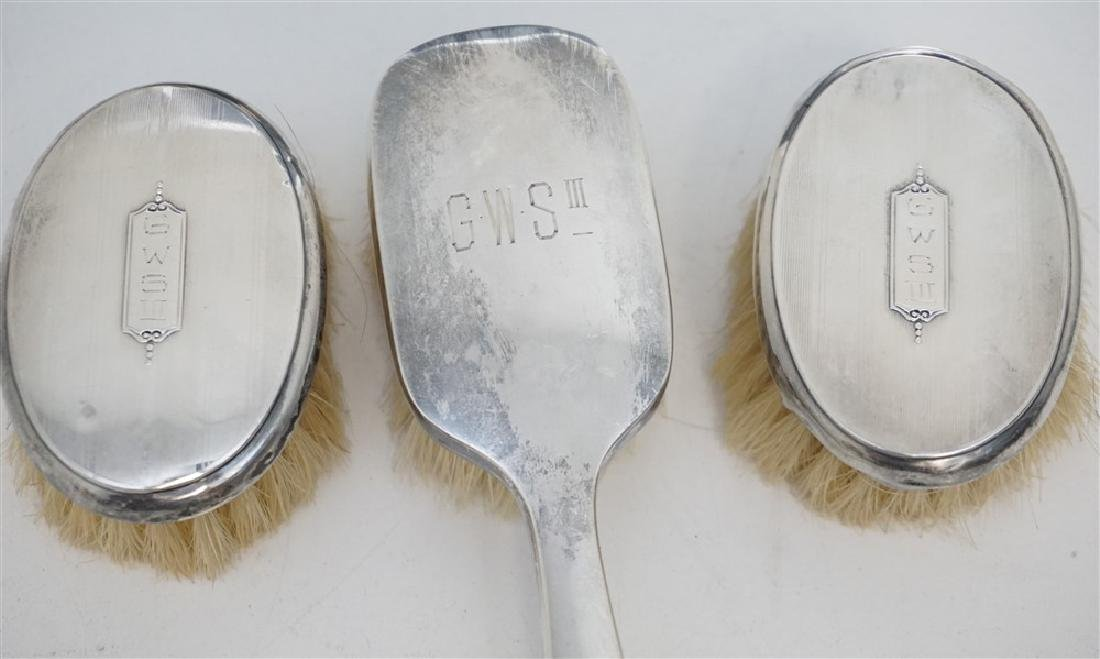 4 pc STERLING FRAME & BABY BRUSHES - 2