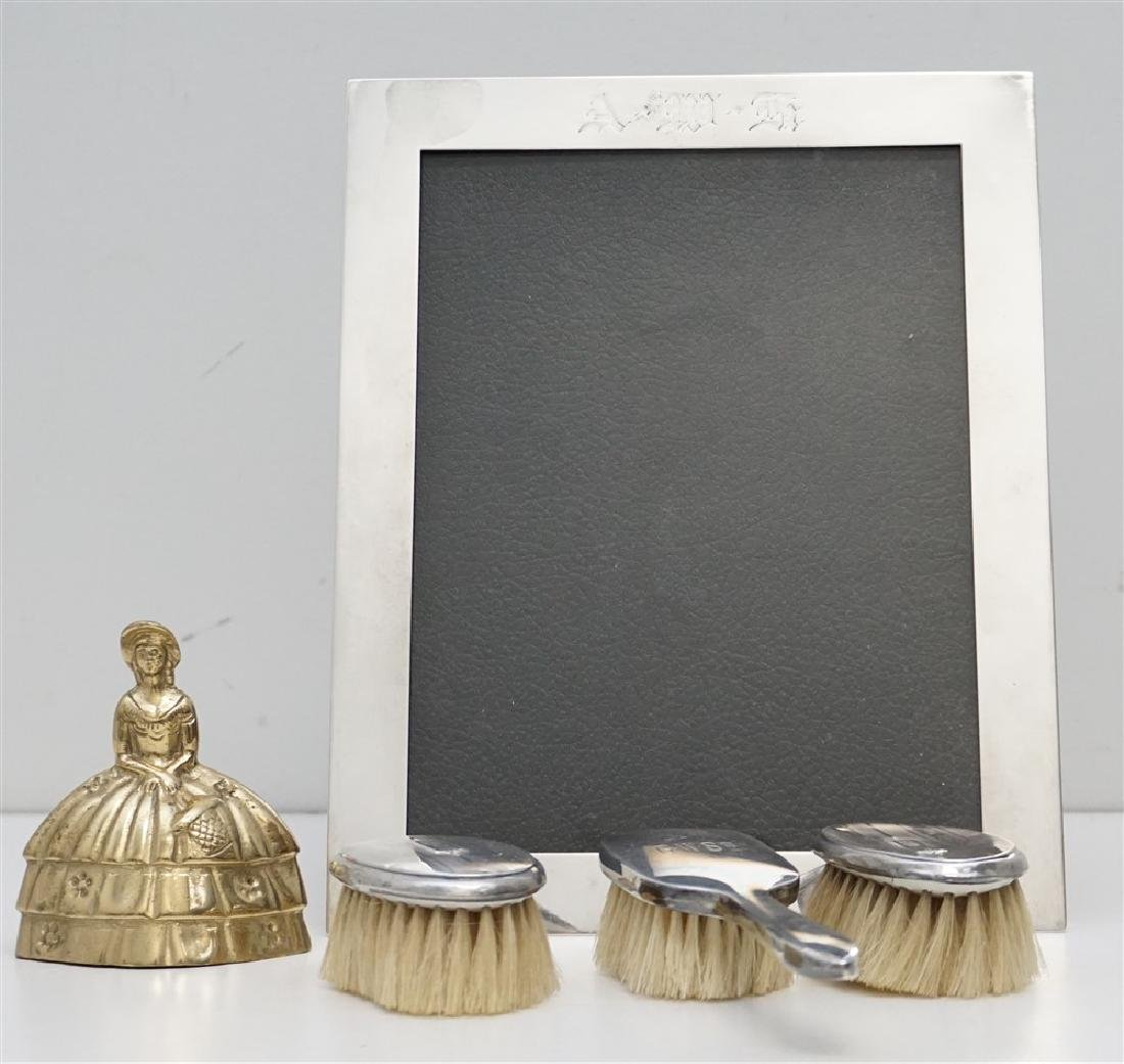 4 pc STERLING FRAME & BABY BRUSHES - 5