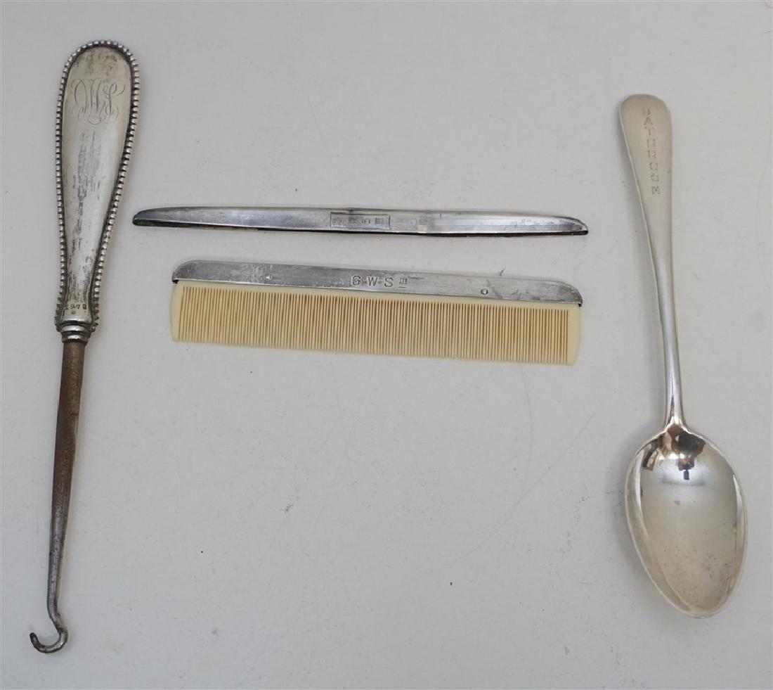 4 pc STERLING - BATHROOM SPOON