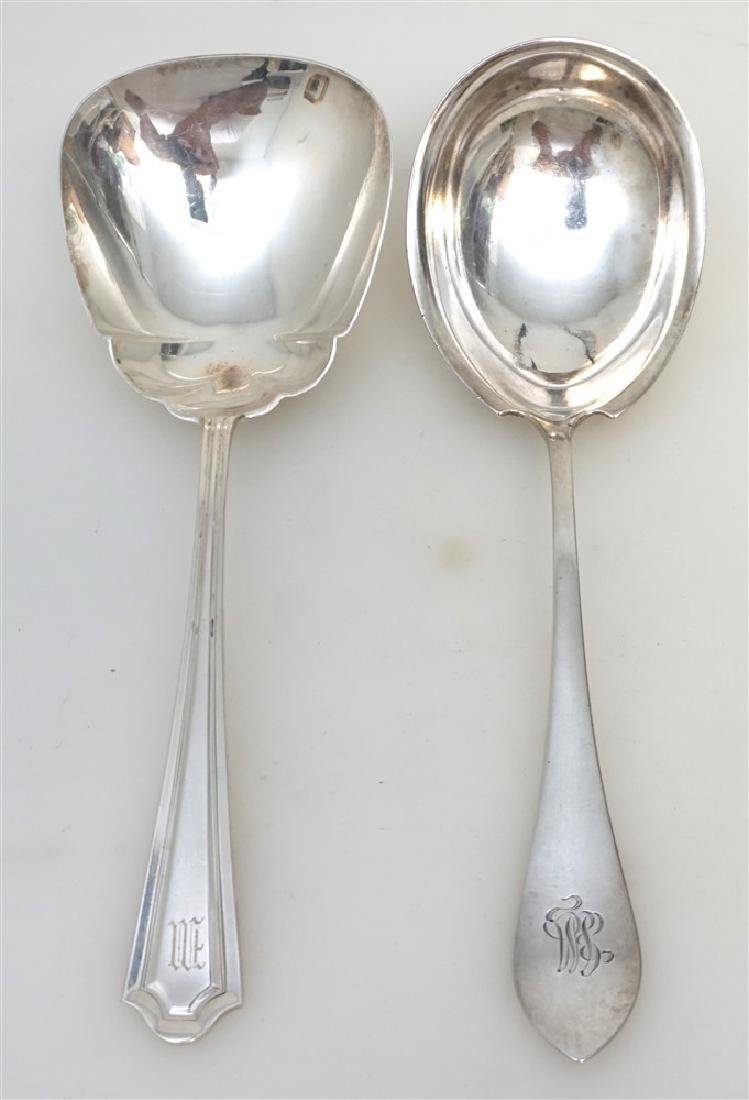 2 STERLING CASSEROLE SERVING SPOONS