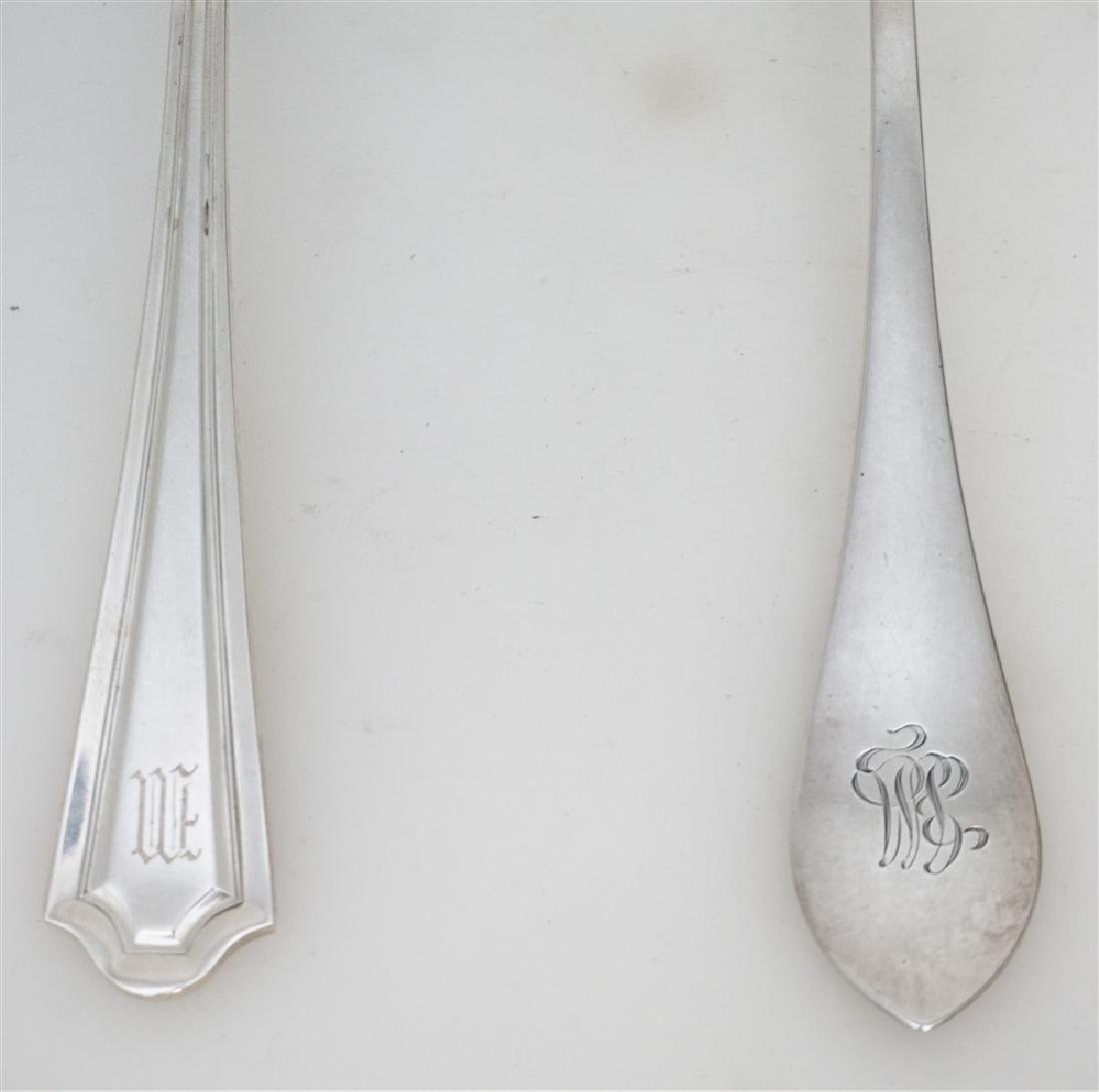 2 STERLING CASSEROLE SERVING SPOONS - 2