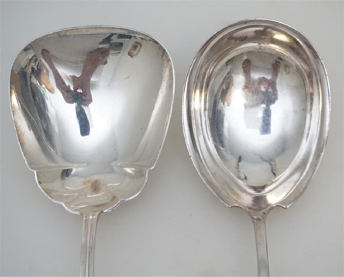 2 STERLING CASSEROLE SERVING SPOONS - 3