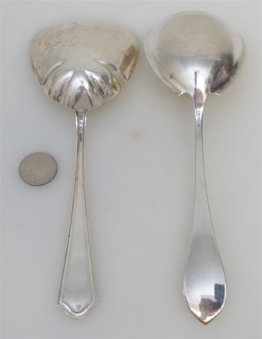 2 STERLING CASSEROLE SERVING SPOONS - 4