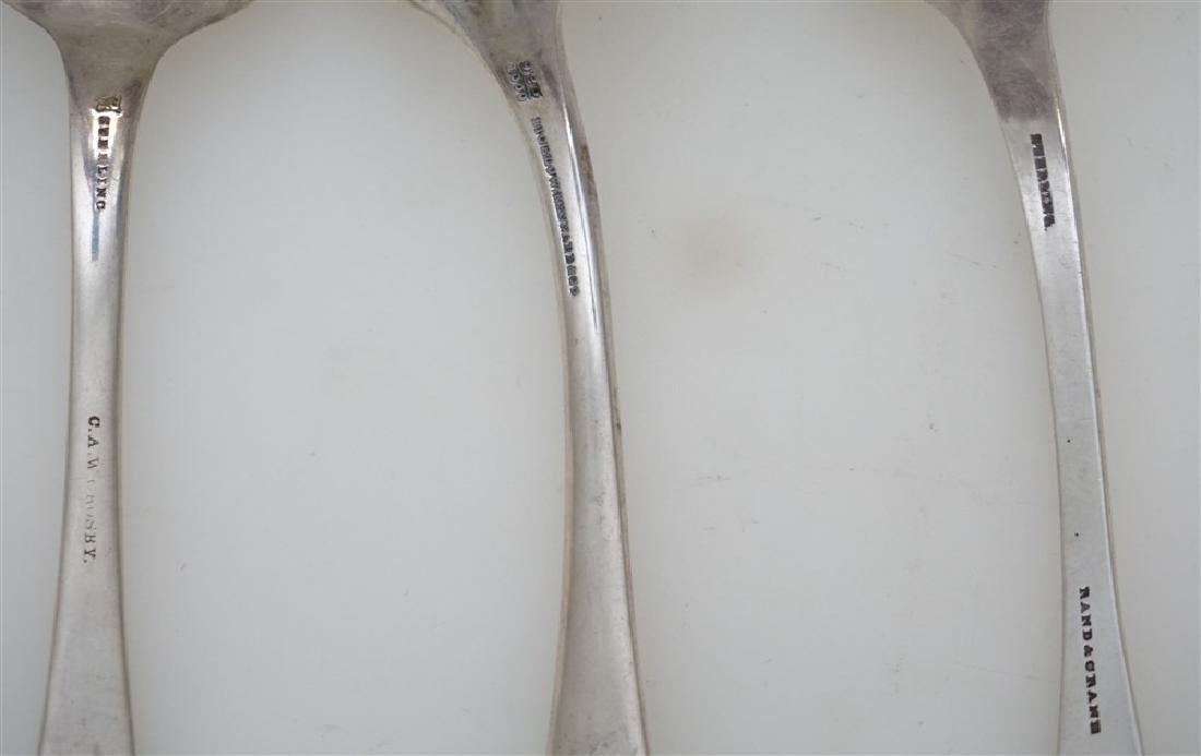 3 STERLING SILVER TABLESPOONS - 6