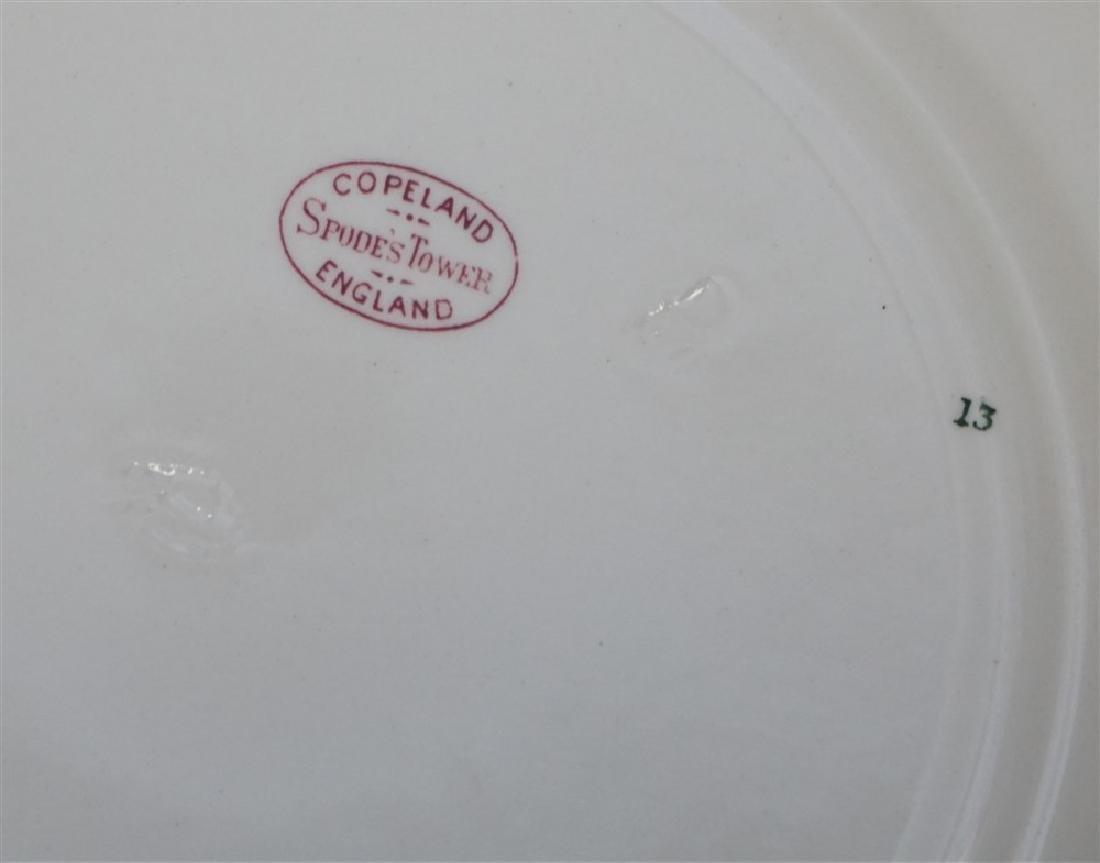 8 COPELAND SPODE RED TRANSFER PLATES - 9