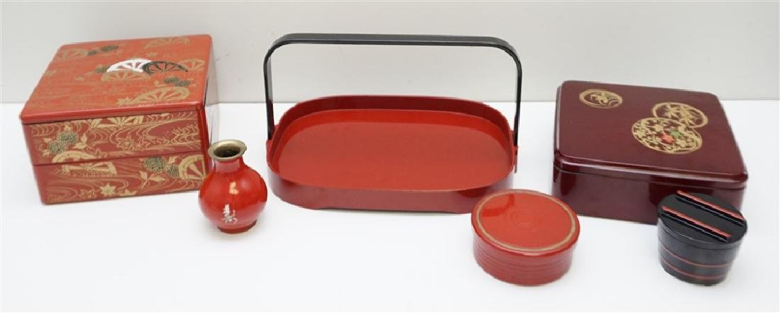 6 PIECE JAPANESE LACQUER WARE