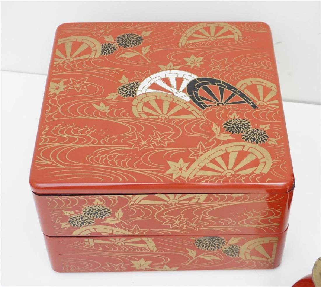6 PIECE JAPANESE LACQUER WARE - 2