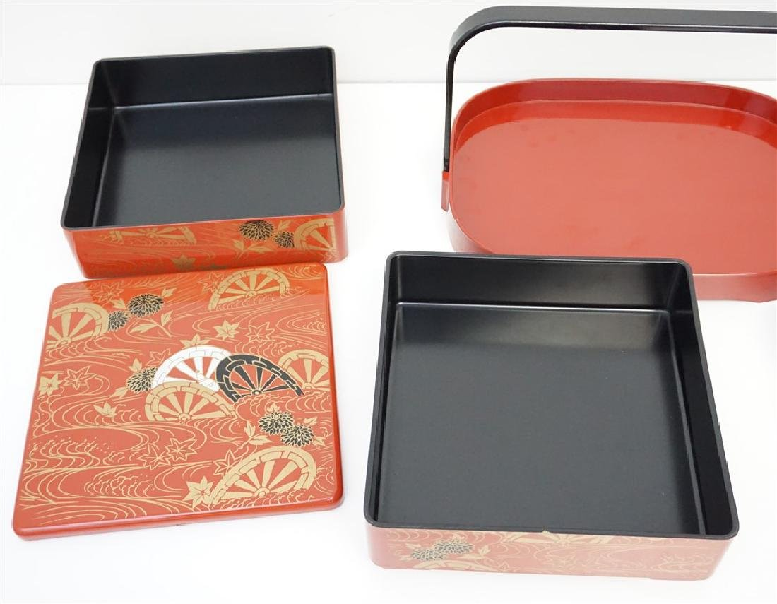 6 PIECE JAPANESE LACQUER WARE - 3