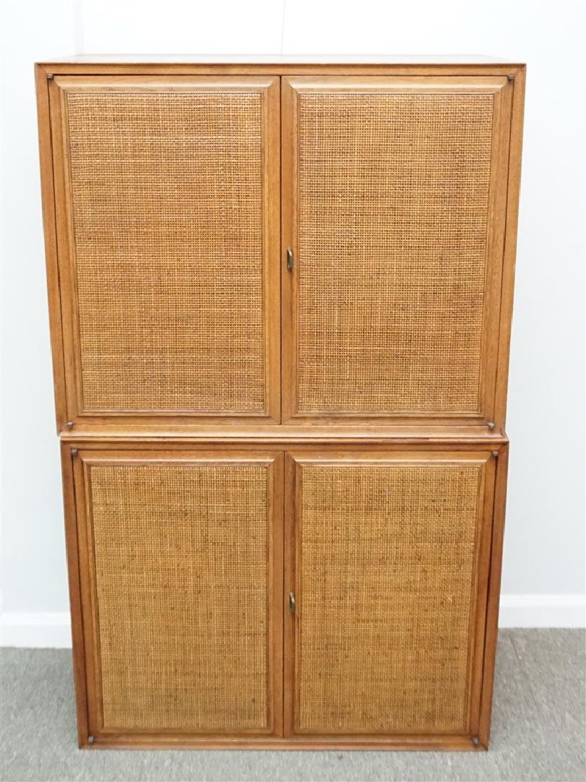 2PC CHESTS WITH CANE STYLE FRONT