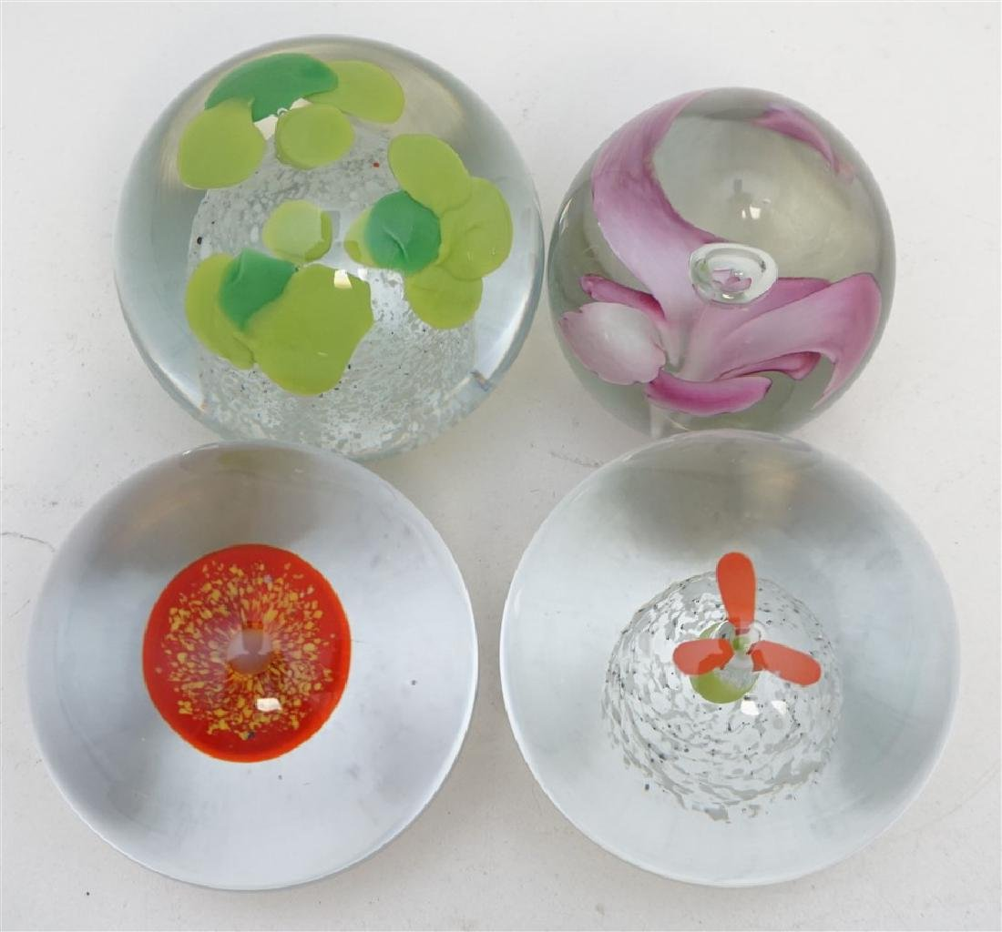 7 BLOWN GLASS PAPERWEIGHT COLLECTION - 5