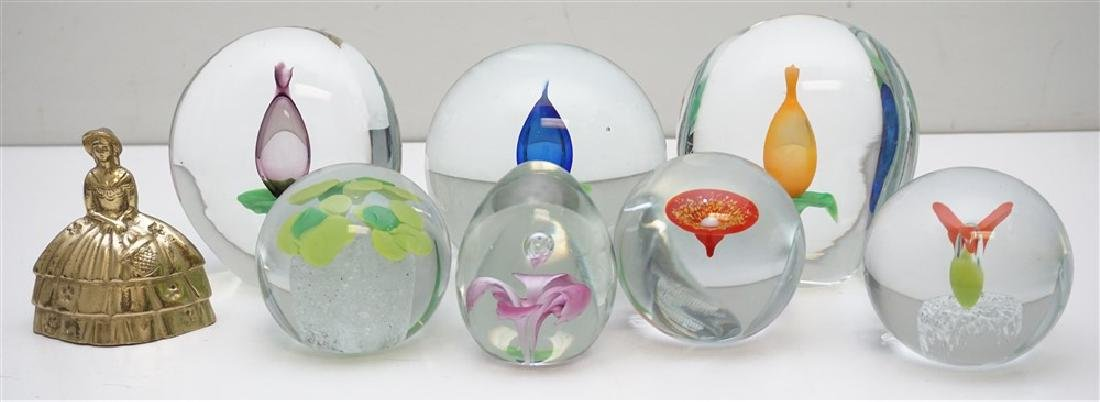 7 BLOWN GLASS PAPERWEIGHT COLLECTION - 6