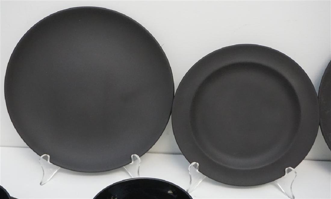 24 BASALT BLACK WEDGWOOD PLATES & BOWLS - 2